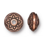 TierraCast Lotus Spacer Bead, Antique Copper